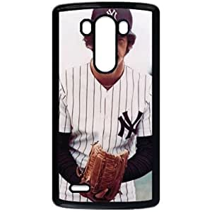 MLB&LG G3 Black New York Yankees Gift Holiday Christmas Gifts cell phone cases clear phone cases protectivefashion cell phone cases HMFN635585421