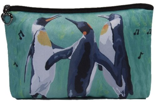 Whimsical Penguin (Penguin Cosmetic Bag, Zip-top Closer - Taken From My Original Painting, The Trio)