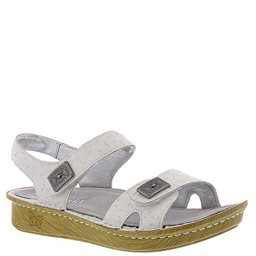 - Alegria New Women's Vienna Strap Sandal Morning Glory White 38