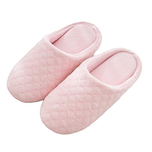 Dérapant Confortable Anti Slip Chaussons Pantoufles Homme Chaussons WDGT Femme Anti ou Fille Slippers Chauds Hiver 001 on dérapant avec d'intérieur Cotton Semelle qvvZ4pxT