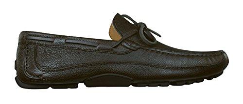 Geox U Melbourne C V Zapatos de Cuero Para Hombres/Mocasines Brown