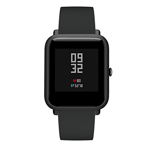 Outsta for Huami Amazfit Bip Youth Watch Band, Soft Silicon Accessory Wirstband Smart Watch Bracelet Band Women Men Multicolor (Black) by Outsta (Image #2)