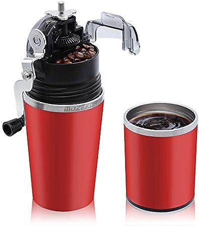 Molinillo de café y cafetera todo en uno, portátil, con molinillo ajustable de acero inoxidable, filtro y taza de café para camping, viajes, oficina, uso: Amazon.es: Hogar