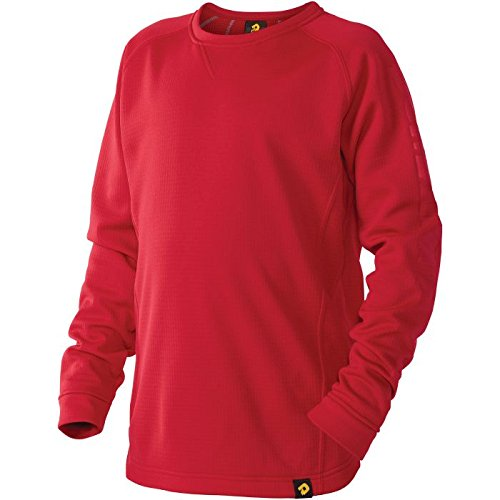 DeMarini Boy's Heater Fleece Jacket, Scarlet, Medium