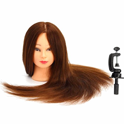 Long 90 real human hair salon hairdressing training head for Actual beauty salon
