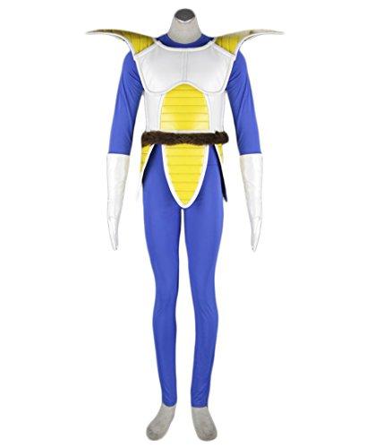 [MiDiCosplay Dragonball Kai Vegeta Saiyan Battle Version Cosplay Costume Custom Made] (Dragon Ball Costume With Tail)