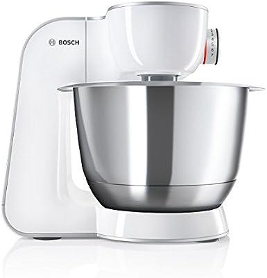 Bosch MUM58W56DE 1000W 3.9L Gris, Acero inoxidable, Color blanco ...