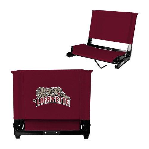 - Lafayette Stadium Chair Maroon 'Primary Mark'