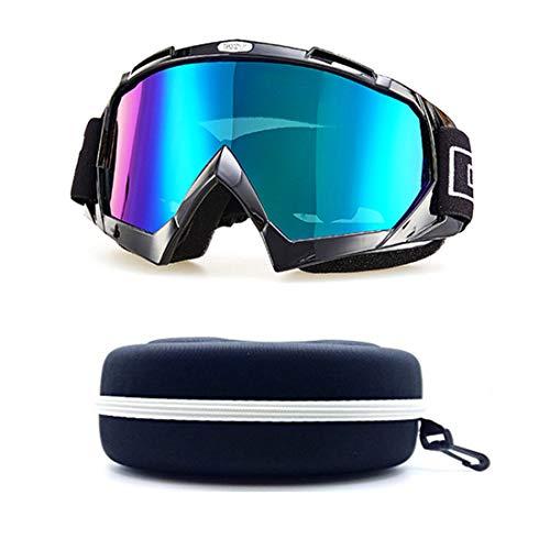 - CPS Winter Ski Goggles Off-Road Snowmobile Double Lens Anti-Fog AF Lenses Dirt Bike Motorcross UTV Military Off Road Adult Motorcycle (Black Blue Mirrored Lens)