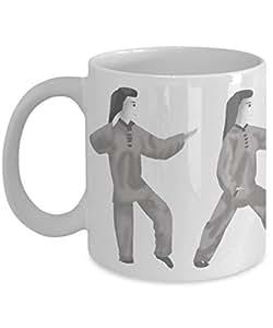 Tai Chi exercise 24 form illustrations 6 thru 10 coffee mug