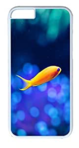 iPhone 6 Cases, ACESR Plastic Hard Case Cover for Apple Iphone 6 (4.7inch Screen) White Border Yellow-fin Tuna