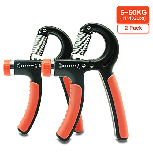 ADMA Adjustable Grip Strength Trainer,Hand Exerciser Grip Strengthener Squeeze Spring Resistance 11-132Lbs(5-60KG),Hand Press Exercise Gripper Best for Hand Wrist Forearm Flexor Strengthening Workout