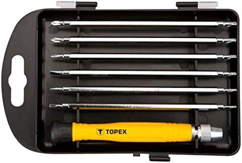 Topex 39D551 Pack de 7 piezas, destornilladores de precision, Set ...