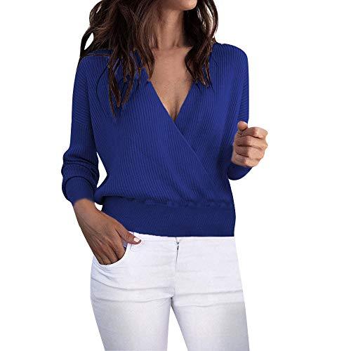 iHPH7 Women Warm Long Sleeve Sweater Pullover Blouse Short Shirts (Fear Punk Shirt)