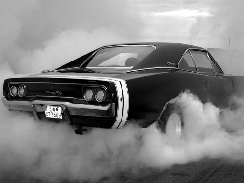 SD2474 Dodge Charger RT BW Muscle Car Auto 24x18 Print POSTER
