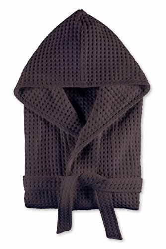 Möve - Albornoz con capucha, algodón, blanco, extra-large Gris