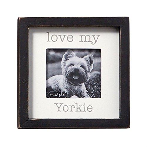 Mud Pie Love My Yorkie Small Square - Pictures Yorkie