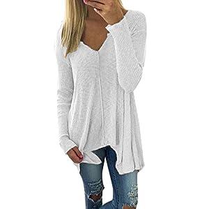 XOWRTE Women's Batwing Oversize Autumn Long Sleeve Pullover Sweater T-Shirt Tunic Blouse Tops