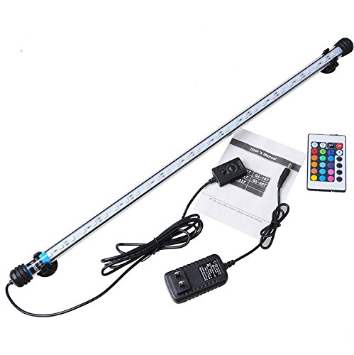 Aquarium Waterproof LED Light Bar Fish Tank Submersible Down Light Lamp AC100-240V 6.5W 57CM SMD5050 (Plug EU plug)