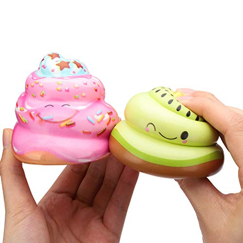 WATINC Random 12 Pcs Kawaii Soft Poo Squishy Cream Scented Stress Relif Toy, Decorative Props Gift Hand Toy for Kids by WATINC (Image #3)