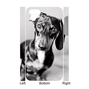 Customized Durable Case for iPhone 6 4.7 3D, Cute Dog Dachshund Phone Case - HL-696 4.7302