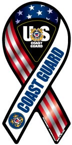 Coast Guard Mini Ribbon Magnet