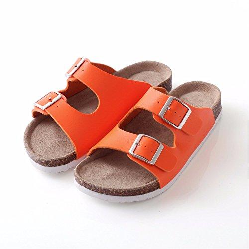 playa hogar antideslizantes de Lovers naranja el sonido de dormitorio para verano para suelo zapatos sin piscina YMFIE transpirables zapatillas Sandalias el qzEZAqwH