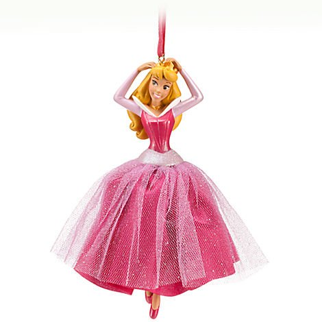 Disney Aurora Sleeping Beauty 'Cast a holiday spell' Sketchbook Ornament