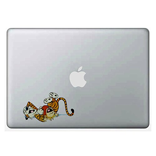 Calvin And Hobbes Play Time Macbook Laptop Sticker Car Window (Calvin Storage)