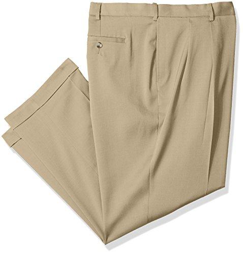 - Savane Men's Big and Tall Pleated Stretch Crosshatch Dress Pant, Flax, 36W x 36L
