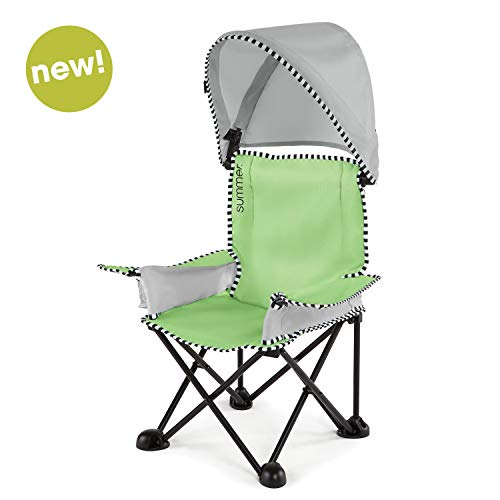 (Summer Pop 'n Sit SE Big Kid Chair, Sweet Life Edition, Green Apple Color - Kids Folding Chair for Indoor/Outdoor Use - Fast, Easy and Compact Fold)