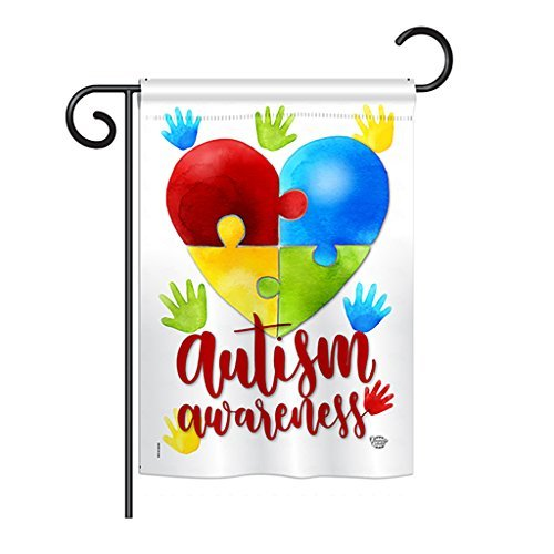 Ornament Collection G192063 Autism Awareness Decorative Vert