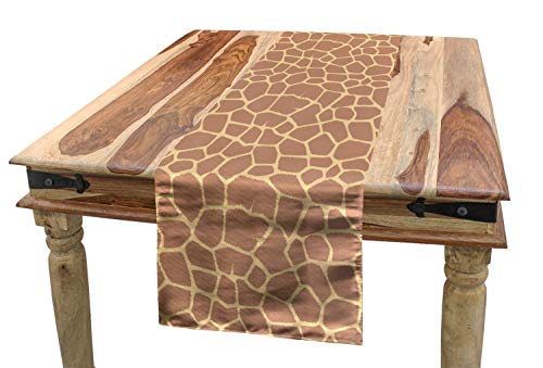 Lunarable Safari Table Runner, Ikat Style Inspired Coffee