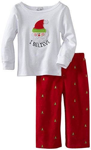 Little Boys Christmas Outfit - I Believe in Santa 0-6 months