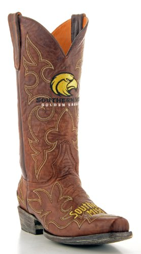 Ncaa Southern Mississippi Golden Eagle Mens Gameday Stivali In Ottone