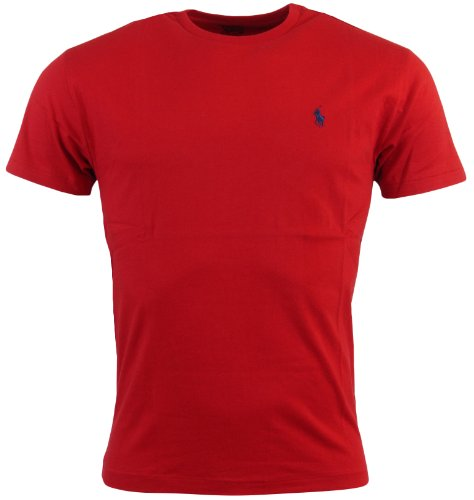 Polo Ralph Lauren Mens Classic Fit Solid Crewneck T-Shirt - L - Red