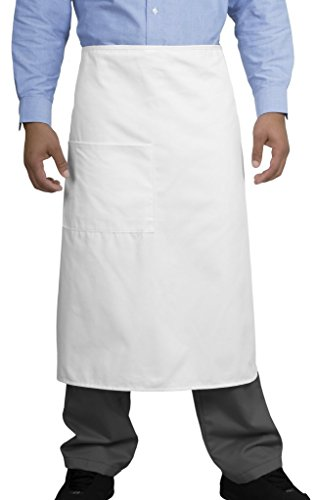 Full Bistro Apron, Color: White, Size: One