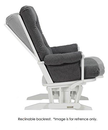Dutailier Sleigh Glider-Multi-Position Recline and Nursing Ottoman Combo, White/Dark Grey by Dutailier (Image #5)