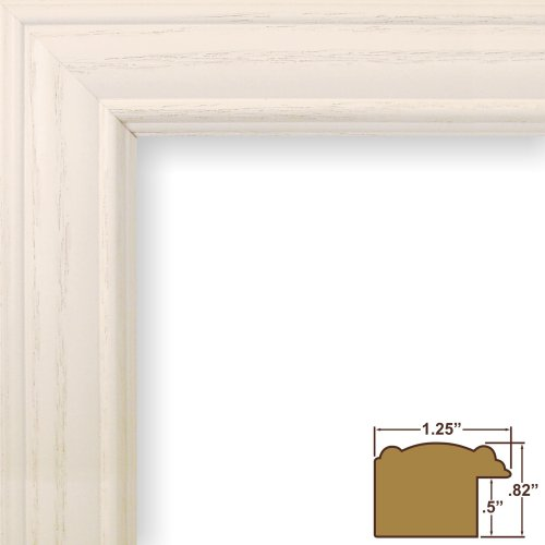 Craig Frames 59504475 24 by 24-Inch Picture Frame, Wood Grain Finish, 1.25-Inch Wide, Whitewash