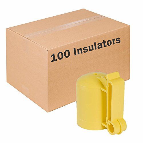 Zareba ITCPY-Z Saftey Cap and Insulator, 100 Pack (Safe T Post Caps)