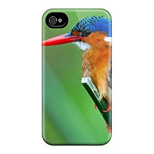 Saraumes Design High Quality Malachite Kingfisher Cover Case With Excellent Style For Iphone 4/4s