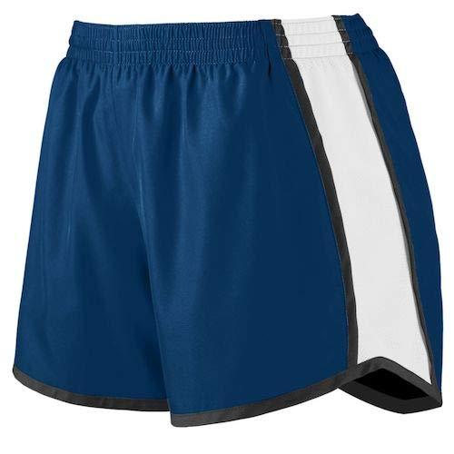 (Augusta Sportswear Women's Junior fit Pulse Team Short, Navy/White/Black, Small)