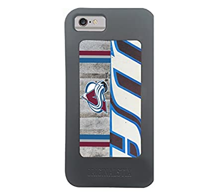 NHL Colorado Avalanche Unisex OS-NHL-Col-Art-001-iph7Colorado Avalance Recycled Hockey Stick iPhone 7 Case, Black