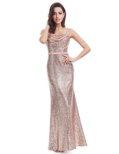 Ever Pretty Sparkle Elegant Sequins Long Prom Gown Cocktail Party Dress for Women 07087