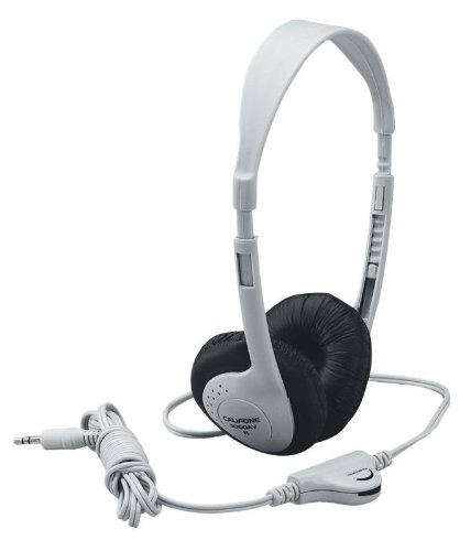 Califone 3060AV Multimedia Stereo Headphones, Gray ()