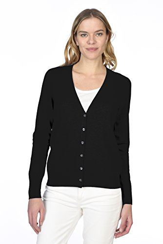 Cashmere Long Sleeve Wrap (State Cashmere Women's 100% Pure Cashmere Button Front Long Sleeve V Neck Cardigan Sweater)