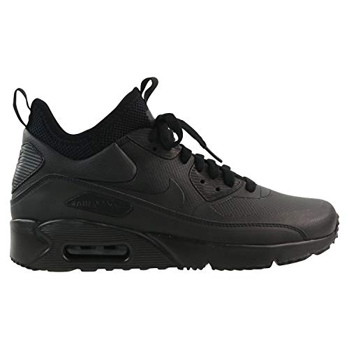 Nike Men's Air Max 90 Ultra Mid Winter Shoe, Black/Black-Anthracite, 8