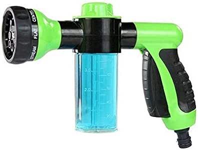 مسدس رش الماء مزود بعبوة رغوة تنظيف، لون اخضر