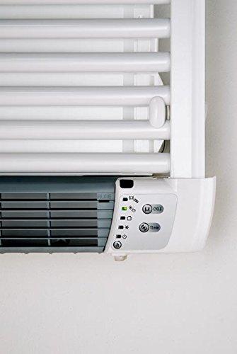 De Longhi 0SD1OL0010755S5 Aurelia Toallero Termoventilador Eléctrico, con Derecho Calefactor Integrado, Acero,