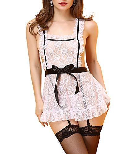 French Maid Costume lace Women Halloween Costume Sexy Cosplay -